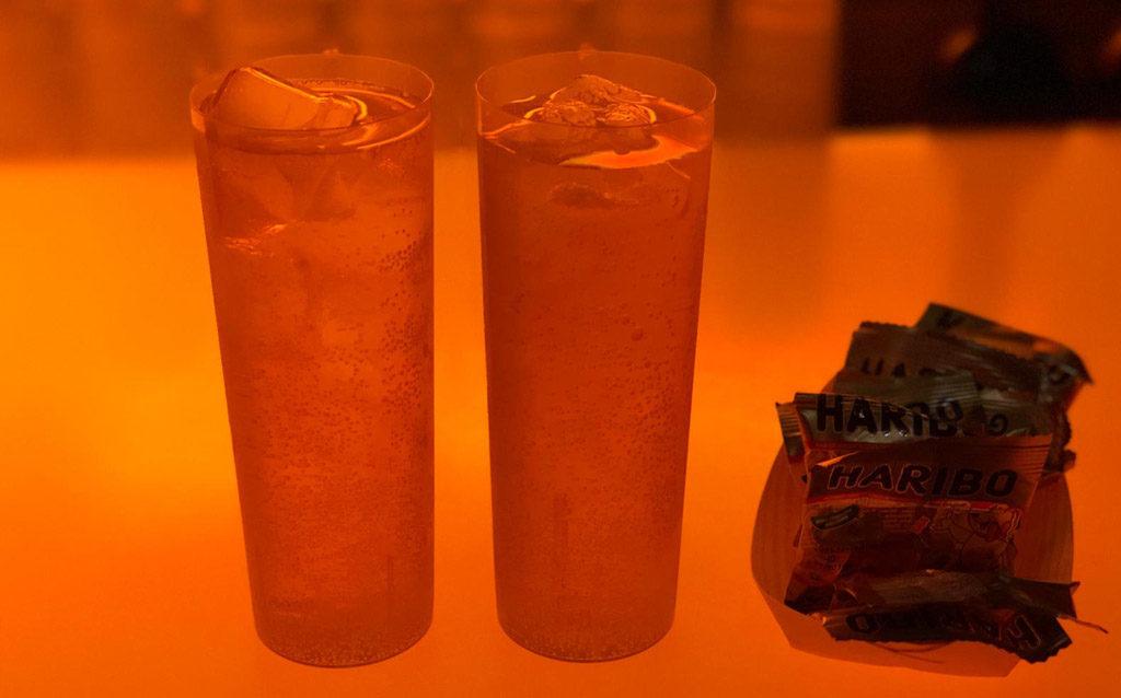Gläser Getränk Haribo Gummibärchen