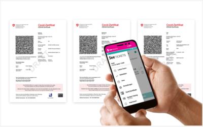Covid-Zertifikate mit dem Yoshi V scannen