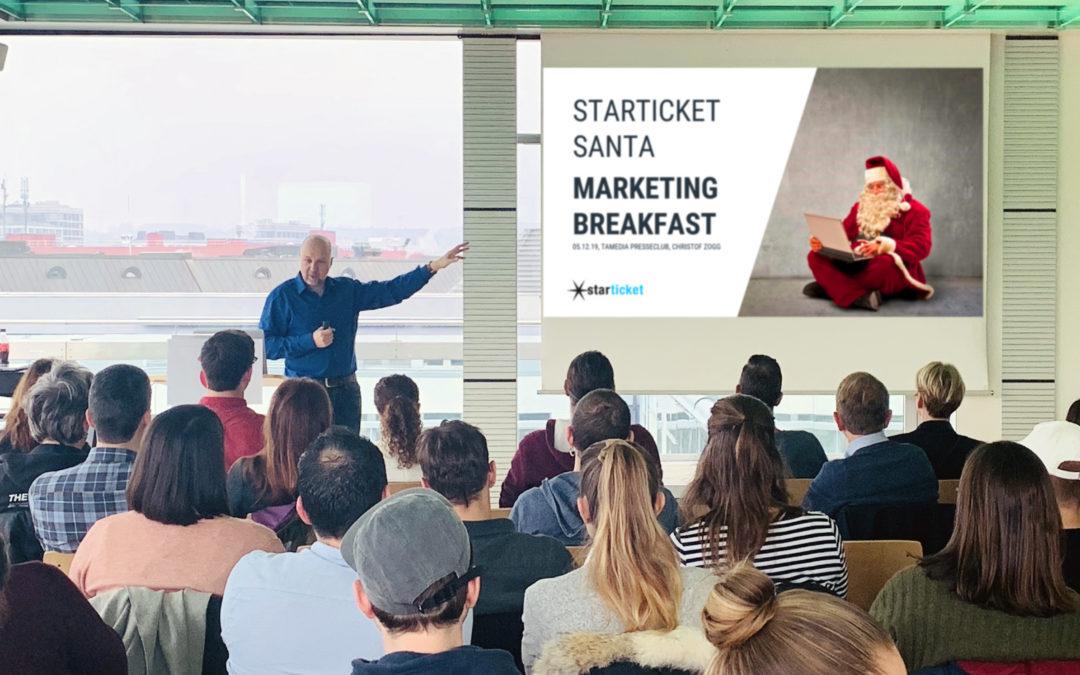 Évènement clients – Starticket Santa Marketing Breakfast